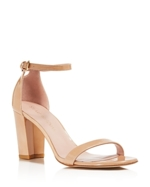Stuart Weitzman, Stuart Weitzman Nearlynude Patent Leather Ankle Strap Sandals
