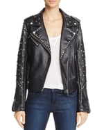 BLANKNYC, Blanknyc Studded Faux Leather Motorcycle Jacket - 100% Exclusive