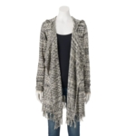 SONOMA Goods for Life, Women's SONOMA Goods for Life™ Hooded Marled Cardigan