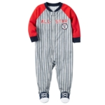 Carter's, Baby Boy Carter's All-Star Baseball Striped Sleep & Play