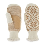 Isotoner, Women's Snowflake Knit Mittens, Natural