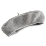 Apt. 9, Women's Solid Wool Beret, Grey