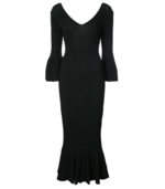 Jonathan Simkhai, Black Released Rib V-Neck Dress