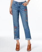 Style & Co, Style & Co Embroidered Boyfriend Jeans, Only at Macy's