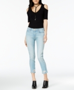 Hudson Jeans, Hudson Jeans Savvy Ripped Cropped Jeans