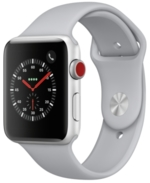 Apple Watch Series 3, (Gps + Cellular), 42mm Silver Aluminum Case with Fog Sport Band