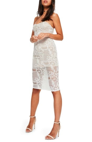 MISSGUIDED, Women's Missguided Strapless Lace Dress