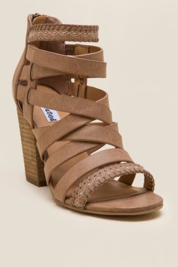 Not Rated, Feelin Strappy Woven Heel - Tan