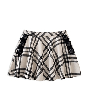 Kate Spade New York, kate spade new york Girls' Plaid Skirt with Button Details - Little Kid