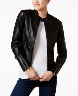 Maralyn & Me, Juniors' Faux-Leather Jacket